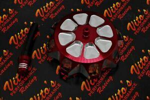 Vito's aluminum GAS CAP Yamaha Banshee YFZ450 Raptor 660 Warrior Blaster RED