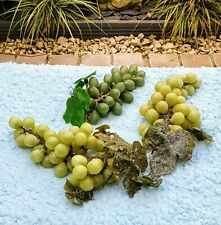 Artificial Green Grape Bunches - Very realistic!! Green x 3