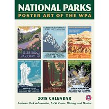 National  Parks WPA Poster w/Grid Wall Calendar