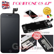 For iphone 6S 4.7'' Black LCD Touch Screen Digitizer Replacement +Button +Camera