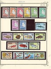 Barbuda-Lot of 90 different stamps 1968-1970