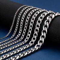 Edelstahl Panzerkette Halskette Kette Damen Herren Silber 4/6/7/10mm | 45-70cm
