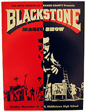 Original Harry Blackstone Magic Show Program