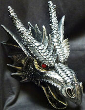 "FIERCE SAURIAN  Hanging Dragon Head  H16"" Statue Figurine DWK"