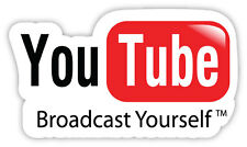 You tube Broadcast yourself adesivo etichetta sticker 14cm x 8cm