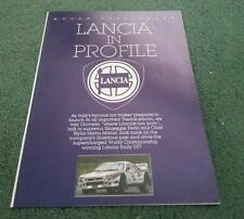 1984 LANCIA MOTOR SUPPLEMENT BROCHURE Delta Beta Prisma Coupe HPE Volumex Fulvia
