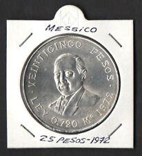 MESSICO MEXICO BENITO JUAREZ SILVER ARGENTO FDC UNC SILBER 1972 25 PESOS