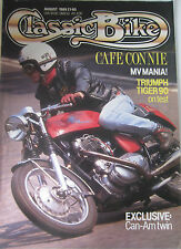Classic Bike Magazine August 1989 Cafe Connie MV Mania Triumph Tiger 90 Can-Am