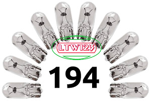 (20Pcs) Miniature Light Bulbs, Marker Light  # 194 . 168, 193