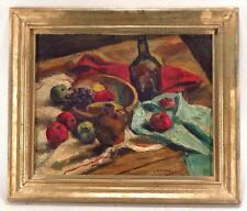 Samuel Brecher Fauvism Modernist  American still life Apple Grape and Wine
