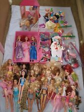 BARBIE AND ACCESORIES TOGETHER WITH ASSORTED  SMALL & MEDIUM DOLLS LOT OF 30+