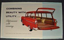 1955 Pontiac Mailer Brochure Folder 860 2-Door Station Wagon Nice Original 55