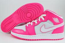 Nike Air Jordan 1 Mid Super Rosa/blanco caliente Retro Hi alta para Mujeres y Niñas Tallas para Jóvenes