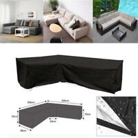 4Sizes Waterproof Garden Corner Furniture Cover Outdoor Sofa Protect L Shape Kit