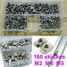 160pcs 2020 M3 M4 M5 T Slot Nut Hammer Head Fastener for Aluminum Profile w/Case