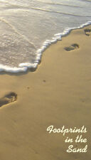 Footprints in the Sand,  prayer card (10 pack)