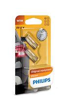 2 x Philips W5W 12V 5W T10 W2.1x9.5d Vision Lampen 12961B2