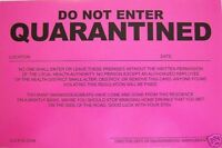 Humiliating Prank Sign - DO NOT ENTER - QUARANTINED