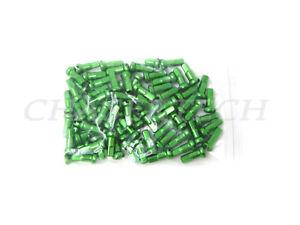 Custom amounts 2.0mm 14mm SOUR APPLE GREEN Alloy Aluminum spoke nipple 14g