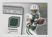 Leon Washington Jets 2006 UD Rookie Debut Future Star Materials #FSM-LW