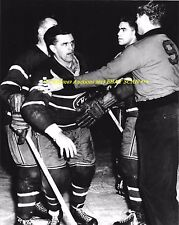 MAURICE RICHARD Goes PSYCHO Held BACK 8x10 Photo MONTREAL CANADIENS HOF GREAT~@@