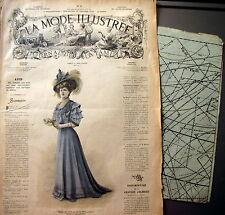 LA MODE ILLUSTREE + PATRON,  n° 2/1908 Voir modèles à réaliser, FRENCH PATTERN