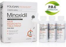 Foligain Minoxidil 5%  Hommes - Traitement Chute de Cheveux et Calvitie