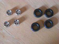 1/43rd scale  Chromed Wolfrace wheels by K&R Replicas