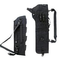 Tactical Molle Shotgun Scabbard Rifle Holster Rifle Sling Case Bag Hunting Black
