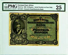 DEUTSCHLAND. Deutsch-Ostafrika. 50 Rupien 1905. Ro. 902a. P. 3a. PMG VF-25 TOP.