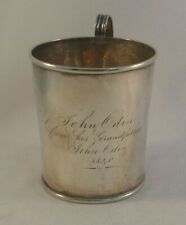 """Coin Silver Jeffrey R Bracket Boston 3"""" Cup Dated 1840"""