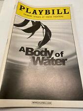 A BODY OF WATER PLAYBILL BOOK BROADWAY NEW YORK OCT 2009 CHRISTINE LAHTI