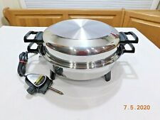 "KITCHEN NUTRITION CLASSICA 13"" Electric Skillet Stainless Waterless 012OCU"