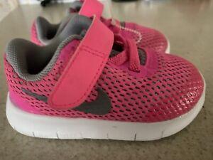 NIKE FREE RN SNEAKERS Toddler Girl Size 5 C *Pink/Gray