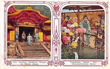 B4783 The Ancient buddhist Temple at Nikko Yokohama    front/back scan
