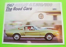 RARE Original 1967 SHELBY GT350 / GT 500 COLOR FOLDER BROCHURE Ford Mustang MINT