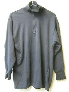 Dutch Army Blue Thermal Top Thick Warm Zip Neck Norgie Vest Military Surplus