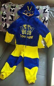 Age 2-3 Chase - PAW PATROL one pc -sleepsuit-dress up - Detachable cape, fleecy