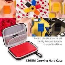 LTGEM EVA Case For WD 1/2/3/4TB USB 3.0 My Passport Portable External Hard Drive