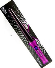 Absolute Heat Pro Graduated Barrel Ion Hair Curling Wand 19-32 mm Purple New