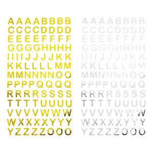 ABC Alphabet Buchstaben Sticker Aufkleber zum Basteln Bekleben Spielen - wählbar