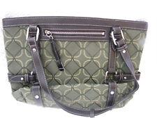 NINE WEST Women's Handbag Shades of Green & Brown/Zipper Closure/GREAT