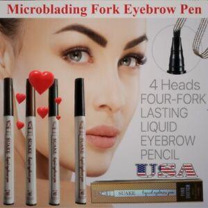 Waterproof Microblading Eye Brow Eyeliner Eyebrow Pen Pencil Fork Makeup Tools