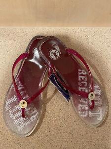 Washington Redskins NFL Women's Gradient Thongs Flip Flops Sandals ~ NWT