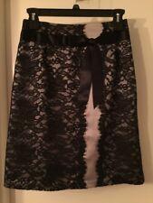NEW Garnet Hill Lace and Silk Skirt-6