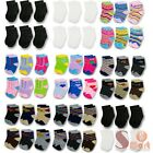 12 Pairs Multi Color NewBorn Baby Kids Infant Toddler Crew Soft Socks 0-24 month