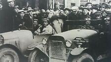 Vintage Repro Photo Motor Car Road Race Rally 1927 Russian Motor Sport