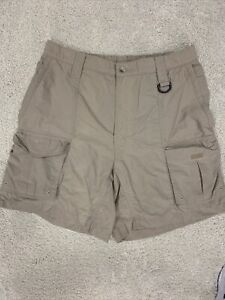 VTG Columbia PFG  Fishing Tan Cargo Shorts Men M MEDIUM Pockets KHAKI