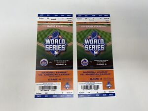 2015 World Series KC Royals Vs NY Mets Full Ticket Game #4 Citi Field