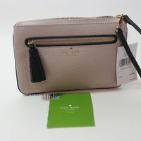 New Kate Spade New York Chester Street Tinie Pebbled Leather Wristlet Mousfr NWT